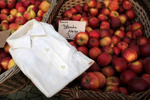White dress shirt in a market