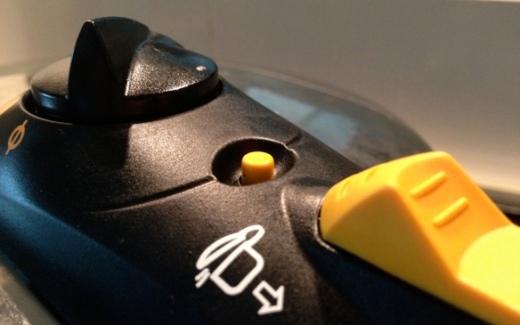 close up of pressure cooker valve