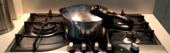 Fagore pressure cooker on a stovetop